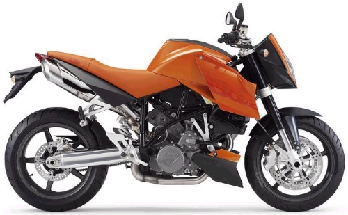 KTM LC8 990 SuperDuke 2005, Orange