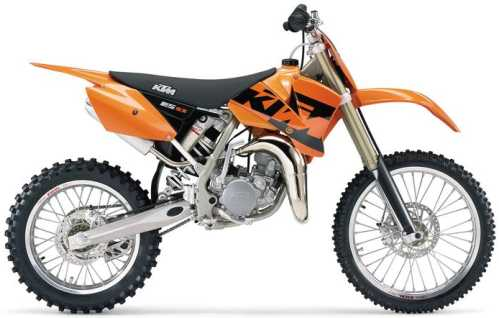 KTM SX 85 (19/16 Zoll-Felgen) 2004, Orange