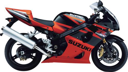SUZUKI GSX-R 1000 2003, Schwarz-Orange